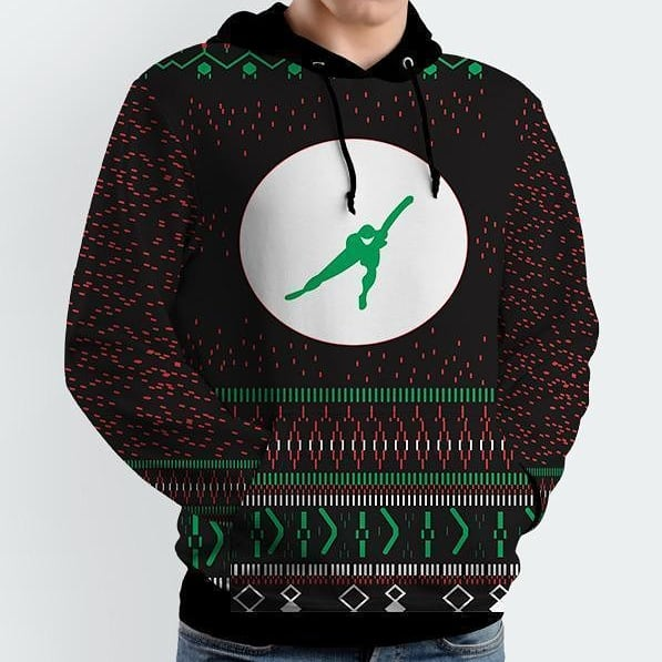 Kerst trui schaatsen